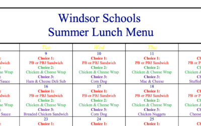 Updated Summer Lunch Menu